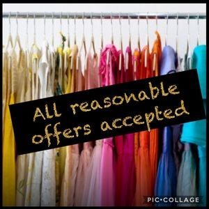 Other - Make me a reasonable offer on the item you love ❤️
